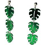 ASKANA Women Fashion Acrylic Marble Pattern Modern Style Earrings