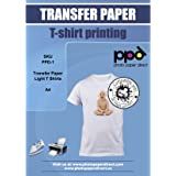 PPD Inkjet PREMIUM T Shirt Transfer paper A4 for White and Light Colour Fabric and Textile x 20 Sheets PPD-1-20
