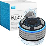 Bluetooth Shower Speaker by Johns Avenue. Waterproof - Wireless - Portable Speaker with Strong Suction Cup and LED Mood Light