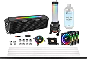 Thermaltake Pacific M360 Plus D5 Hard Tube RGB Water Cooling Kit 水冷CPUクーラーキット [Intel/AMD両対応] HS1311