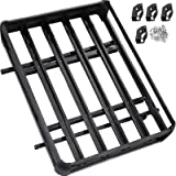 VEVOR Roof Basket Universal Aluminum Roof Rack Basket 64x40 Inch Roof Mounted Cargo Rack for Car Top Luggage Traveling SUV Ho