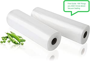 Vacuum Seal Bag Rolls | 2-Pack Saver Seal for Food Saver and Sous Vide Storage Heat Commercial Grade 25cm X 5m...