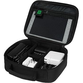 (バッグスマート)BAGSMART PC周辺小物用収納ポーチ ベルクロ式仕切り iPad Mini2収納可 ブラック