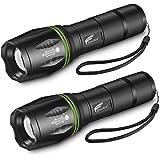 HAUSBELL Flashlights, T6 LED Flashlights, LED Handheld Flashlights, Zoomable, High Lumen, Water Resistant, 5 Light Modes Lant
