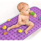 Sheepping Upgrade Baby Bath Mat Non Slip Extra Long Bathtub Mat for Kids 40 X 16 Inch - Eco Friendly Bath Tub Mat with 200 Bi