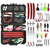 JSHANMEI Fishing Lures Bait Kit Including Crankbaits, Spinnerbaits, Plastic Worms, Jig Hooks, Topwater Lures, Spoons, Fishing