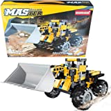 STEM Construction Toys | Bulldozer Building Kit, Front Wheel Loader - Top Educational Engineering Toy Set for Boys And Girls