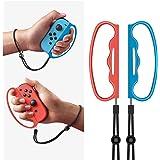 Nintendo Switch Joy-Con用Fit Boxing グリップ コントローラー グリップ 2個セット NS Fit Boxing 対応 フィットボクシング対応 ハンドル Joy-Con用ハンドルクリップ ボクシングゲームグリップ コントローラーグリップ ストラップ付 L&Rハンドグリップ 紛失防止ロープ付き
