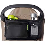 Best Stroller Organizer for Smart Moms Fits All Strollers Premium Deep Cup Holders Extra-Large Storage Space for iPhones Wall