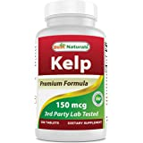 Best Naturals Kelp Supplement 150 Mcg Tablet, 300 Count