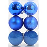6pcs Christmas Balls Ornaments Various Sizes Shatterproof Ornaments Balls for Holiday Wedding Party Decoration Christmas Tree