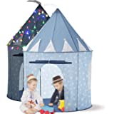 LimitlessFunN Kids Play Tent Bonus Star Lights & Carrying Case [ Pop Up Portable Glow in The Dark Stars Blue ] Children Castl