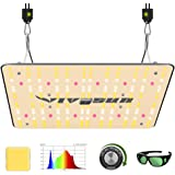 VIVOSUN 2020 Latest VS1000 LED Grow Light with Samsung LM301H Diodes & Sosen Driver Dimmable Lights Sunlike Full Spectrum for