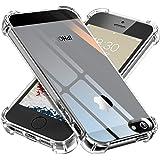 【ONES】 iPhone 5/5s/SE ケース 高透明 耐衝撃 超軍用規格 『エアバッグ、ストラップホール』〔滑り止…