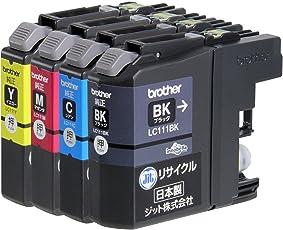 【Amazon.co.jp限定】ジット ブラザー(Brother) 対応 リサイクル インクカートリッジ LC111-4PK 4色セット対応 JIT-NB1114P
