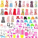 Barwa 123 Pcs Clothes Set EU CE-EN71 Certified Include 15 Pack Clothes Party Grown Outfits and 108 Pcs Different Doll Accesso