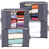 Anyoneer Clothes Storage Bags and Closet Organizer with Reinforced Handle, 3 Layer Fabric and Sturdy Zipper, Extra Large Capa