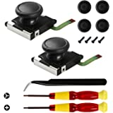 Veanic 2-Pack 3D Joystick Analog Thumb Stick for Switch Joy-Con Controller - Include Tri-Wing, Cross Screwdriver, Pry Tools +