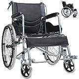 車椅子 折り畳み式車椅子 介助型 軽量アルミ製 簡易車椅子 自走車椅子 ノーパンクタイヤ 介護車椅子 旅行用 外出用 折りたたみ 車いす 車イス 安い車椅子
