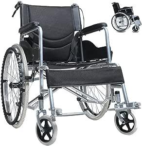 車椅子 折り畳み式車椅子 介助型 軽量アルミ製 簡易車椅子 自走車椅子 介護車椅子 折りたたみ 旅行用 外出用 軽い車椅子 ノーパンクタイヤ 自走 車いす 車イス