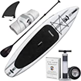 """Tower Inflatable 10'4"""" Stand Up Paddle Board - (6 Inches Thick) - Universal SUP Wide Stance - Premium SUP Bundle (Pump & Adju"""