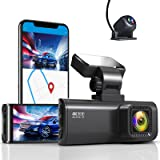 REDTIGER Dash Cam 4K Built in WiFi GPS Front 4K/2.5K Rear 1080P Dual Dash Camera for Cars 170° Wide Angle Dashboard Camera Re