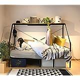 [山善] ベッド ぐうたらベッド (コンセント・ハンガーバー・上棚・宮付き) ベッドフレーム シングルベッド 一人暮らし 組立品 ブラック BGB-98219(BK)