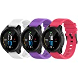 Fit for Garmin Fenix 6 Pro Watch Bands, Forerunner 945 Bands, 22mm Easy Fit Silicone Straps Wristband Bracelet Fit for Garmin