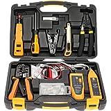 InstallerParts Network Repair Tool Kit 15 In 1 – Electronic Tool Set | Crimping Tool, LAN/Ethernet/Cat5/Cat6 Cable Tester, Ga