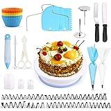 Cake Decorating Equipment, SPLAKS 106pcs Cake Decorating Set Cupcake Decorating Kit Baking Supplies Cake Turntable Set with 5