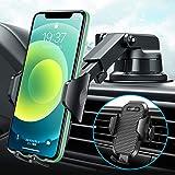 【2020再進化万能版】車載ホルダー VANMASS 3in1 片手操作 厚いケース対応 粘着ゲル吸盤&エアコン吹き出し口式兼用 スマホホルダー スマホスタンド 携帯ホルダー 車 原料から作りまでの高品質 伸縮アーム/ワンタッチ/雑音無し/360度回