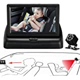 Itomoro Baby Car Mirror, View Infant in Rear Facing Seat with Wide Crystal Clear View,Night Vision,Camera Aimed at Baby-Easil