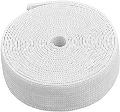 uxcell ストリング ストラップ ゴム 伸縮性 伸縮自在 縫い パンツ ズボン 衣服 バンド ロープ ホワイト