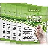 Foot Mask Peeling 5 Pack,Soft Callus Peeling Dead Skin Remover Exfoliating Socks Dry Rough Heels Treatment Beauty Aloe Feet M