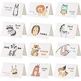Kesote 感謝カード 24枚 感謝祭 感謝の日 ありがとう メッセージカード 動物 インディアン 封筒付き 封筒テープ付き