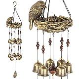 Gardenvy Bird Nest Wind Chime, Bird Bells Chimes with 12 Wind Bells for Glory Mother's Love Gift, Garden Backyard Church Hang