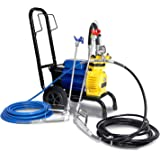 Commercial Airless Paint Sprayer 5HP 5000PSI 3500W 18L/Min 2 Spray Guns Hose Painting Machine