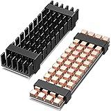 ineo 3mm M.2 SSD 2280 NVMe 純銅製ヒートシンク(PS5にサポート)及び10mm アルミニウム製 ヒートシンク(PCにサポート)熱暴走解決の最高の対策、サーマルパッドに付き[M15]