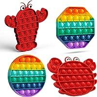 スクイーズ玩具 ストレス解消グッズ 減圧おもちゃ プッシュポップバブル フィジェットおもちゃ インテリジェンス発展 知育…