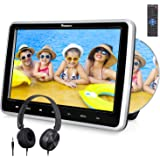 NaviSkauto 9 inch Portable DVD/CD Player USB/SD Card Reader with 5 Hour Built-in Rechargeable Battery, 270ー Swivel Screen, 3m