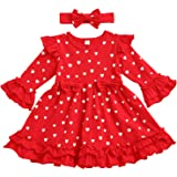 itkidboy New Years Outfit Baby Girls Bodysuit+Ruffle Tulle Skirt+Sequins Bow Headband+Leg Warmers Dress Clothes 4Pcs Set Blac