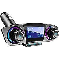 FMトランスミッター ブルートゥース 車載用 Bluetoothレシーバー 音楽 ハンズフリー通話 無線 USB充電ポー…