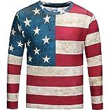 Pizoff(ピゾフ) メンズ Tシャツ 長袖 3d プリント オシャレ オモシロ 量軽 爽快 カジュアル