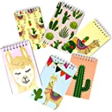 48 Count Llama Mini Notepads 6 Assorted Designs Notebook Kids Spiral Note Journal Small Set Party Toys Bulk Llama Pocket Favo