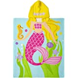 Hooded Towels for Kids | Hooded Baby Poncho Towel Soft & Absorbent | 100% Cotton Kids Towels with Hood | Kids Bath Towel for