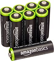 Amazon Basic品牌 充电式镍氢电池 5号 8个装 (最小容量1900mAh、约可使用1000回)
