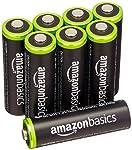 Amazonベーシック 充電池 充電式ニッケル水素電池 単3形8個セット (最小容量1900mAh、約1000回使用可能)