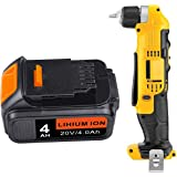ARyee 20V 4000mAh Replacement Battery for DEWALT DCB205-2 DCB200 DCB204 Battery Pack with LED Indicator Cordless Power Tool