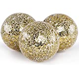 MDLUU Decorative Orbs, Mosaic Sphere Balls, Centerpiece Balls for Bowls, Vases, Dining Table Decor, Diameter 4 Inches, Pack o