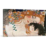 "ARTCANVAS The Three Ages of Woman - Detail 1905 Canvas Art Print by Gustav Klimt - 26"" x 18"" (0.75"" Deep)"